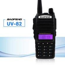 Baofeng UV-82 Walkie Talkie 5 Вт двойной PTT 137-174/400-520 МГц UV 82 Ham любительский портативный двухстороннее радио станция для охоты трекер