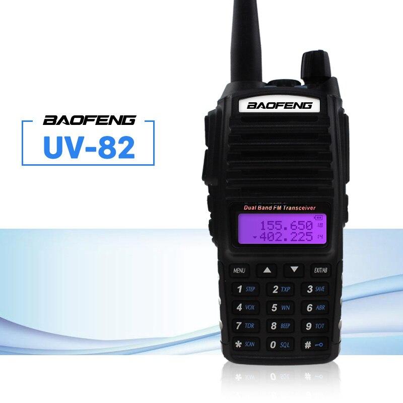Baofeng UV-82 Walkie Talkie 5 watt Dual PTT 137-174/400-520 mhz UV 82 Ham Amateur Tragbare Zwei weg Radio Station Für Jagd Tracker