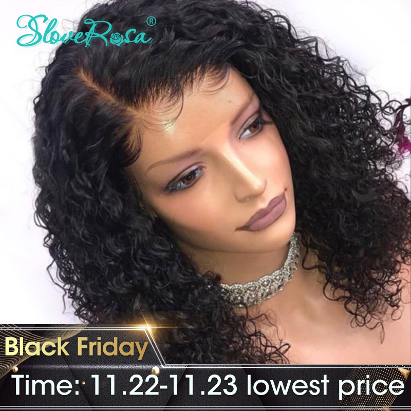 Aliexpress Com Buy Side Part Curly Bob Hair Wig Lace