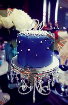 2 pièce/lot gâteau plateau Dessert mariage Dessert ensemble gâteau Rack argent Focus diamètre 12 pouces haut 8 pouces