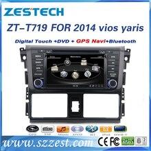 ZESTECH car dvd player for Toyota Yaris Dual Zoon Russia/spanish ect Menu GPS DVD BT USB RADIO