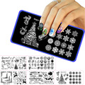 GRACEFUL  Christmas Rose Flower Nail Art Stamping Template Image Plate Nail Stamping Plates Manicure Stencil Set OCT19