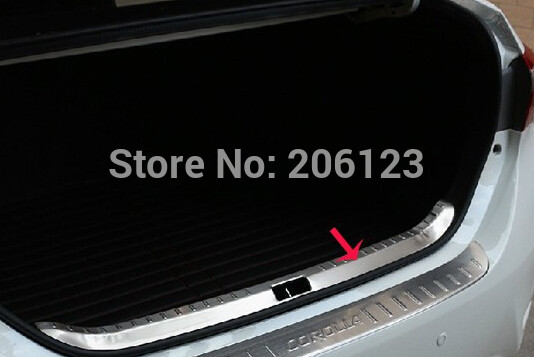 High quality stainless steel internal Rear bumper Protector Sill For 2014 Toyota Corolla for 2014 luxgen large 7 high quality stainless steel rear bumper guard