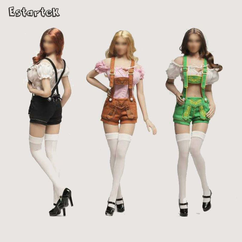 Estartek Flirty Girl 1/6 Gemany Oktober Girls Cosplay Clothes Set for 12inch Phicen Play Toys Verycool Action Figure DIY