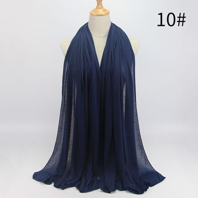90*180 Trendy women muslim jersey hijab scarf foulard femme size plus hijabs Islamic shawls soild Modal headscarf for women