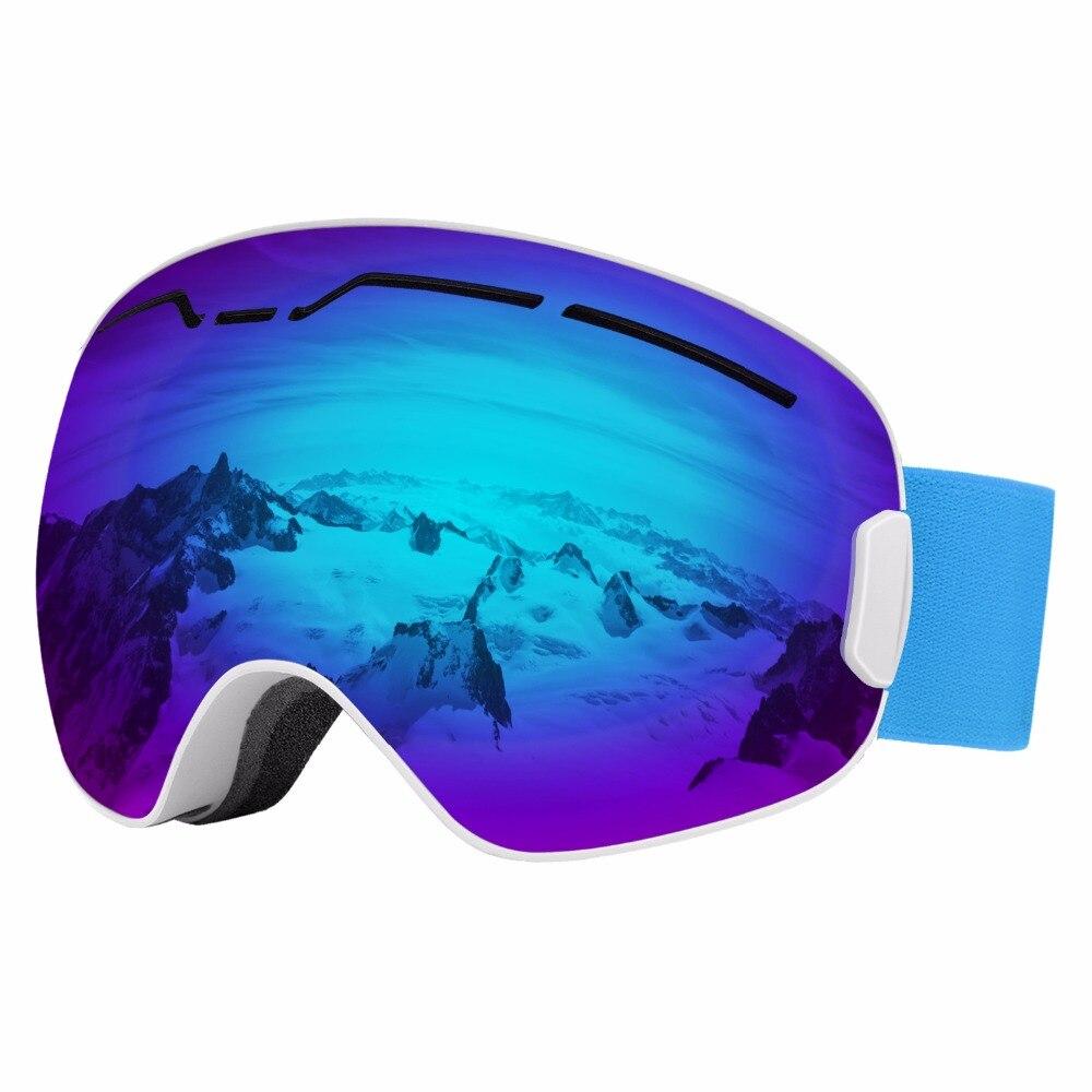Lunettes de Ski, Double lentille amovible Anti-éblouissement coupe-vent protection lunettes de Skate de sécurité pour le patinage Ski, motoneige Snowboard