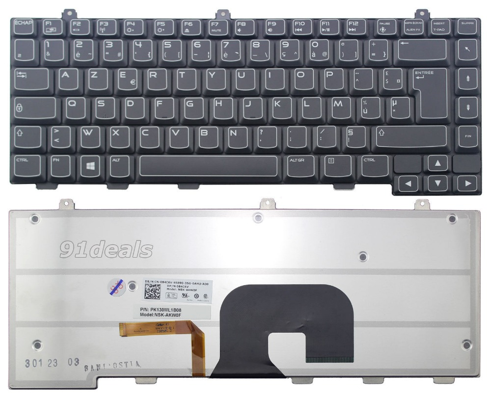 New notebook font b Laptop b font keyboard for Dell Alienware 084C6V NSK AKW0F PK130ML1B08 french