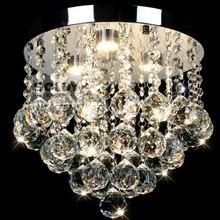 Современные Круглые Хрустальные потолочные светильники, светодиодные светильники для прохода, Хрустальные потолочные светильники для спальни, люстры De Sala, теплый белый, холодный белый