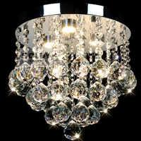 Luces De techo De cristal redondas modernas luces De pasillo Led luces De techo De dormitorio De cristal Lustres De Sala blanco cálido blanco frío