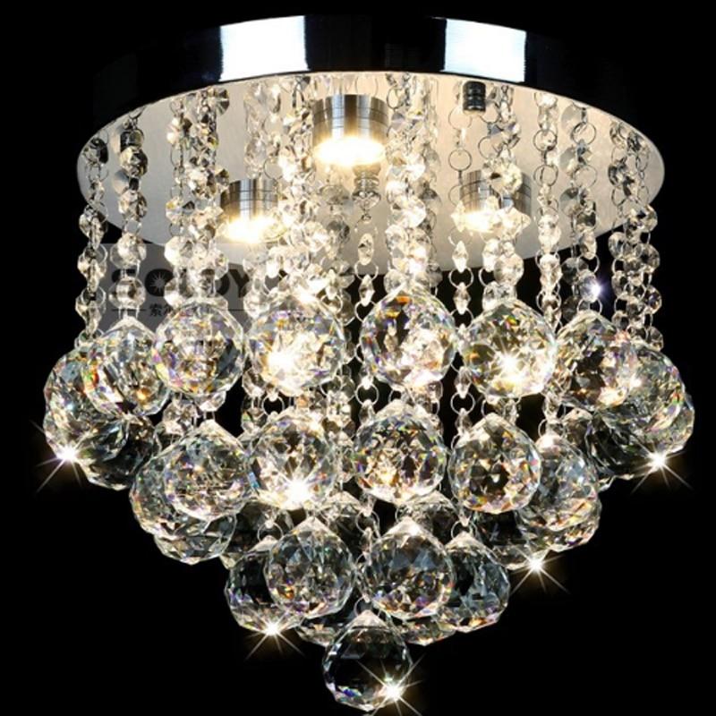 Modern Round Crystal Ceiling Lights Led Aisle Lights Crystal Bedroom Ceiling Lights Lustres De Sala Warm Innrech Market.com