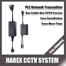 PLC Monitoring Network Transmission Receiver + Transmitter Power + video transmission by power cord for IP camera system