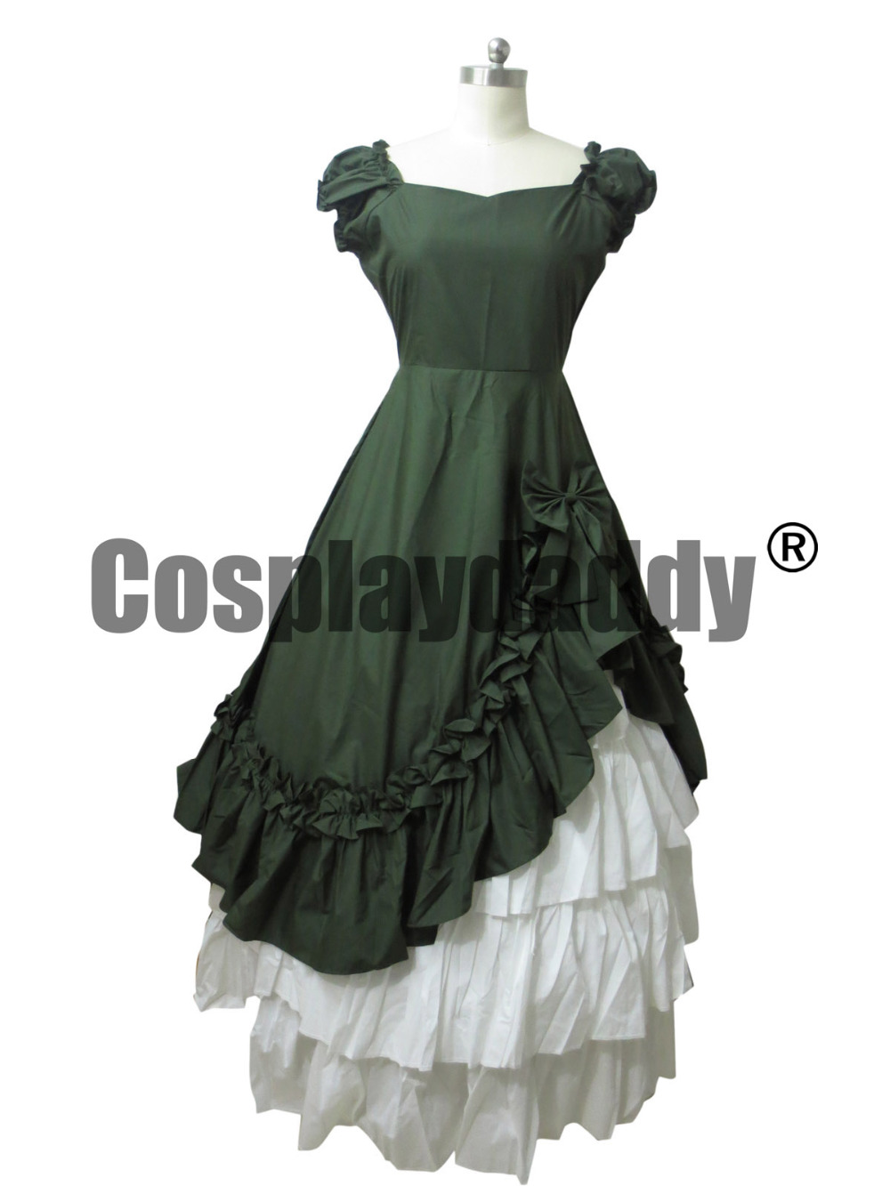 Southern Belle Victorian Ball Gown Dress Halloween Costume Reenactment Clothing