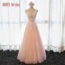 Elegant Long Lace Evening Dresses Party Tulle Women Prom Formal Evening Gowns Dresses for Wedding Party