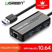 Ugreen USB Ethernet 10 100 1000 Mbps Rj45 Gigabit Network Card Lan Adapter 3 Port USB