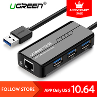 Ugreen USB Ethernet 10 100 1000 Mbps Rj45 Gigabit Network Card Lan Adapter 3 Port USB
