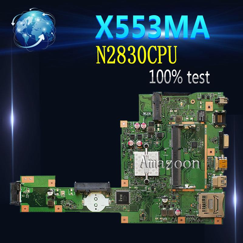 Amazoon X553MA MAIN_BD._0M/N2830/COMME Pour ASUS A553M X503M F503M X553MA X503M X553M F553M F553MA ordinateur portable carte mère 100% testé