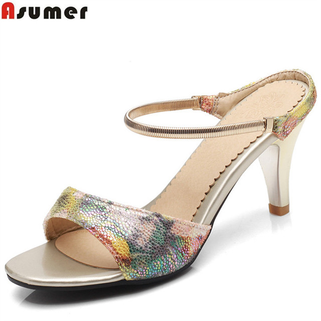 6248d5ae303 US $29.12 48% OFF|ASUMER 2018 fashion summer new arrival ladies shoes  elegant weding shoes woman casual high heels women sandals big size 33  43-in ...