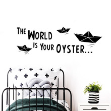 Wall Vinyl World is oyster Stickers Home Decor Girls Bedroom Sticker for Living Room Company School Office Decoration
