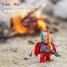 1 pcs Rainbow star wars super-heróis Decool marvel avengers Batman building blocks define bricks modelo brinquedos para crianças