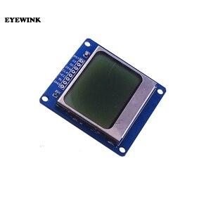 Image 1 - 10 قطعة/الوحدة وحدة جديدة الأزرق الخلفية 84*48 84x84 LCD محول PCB لنوكيا 5110 لاردوينو