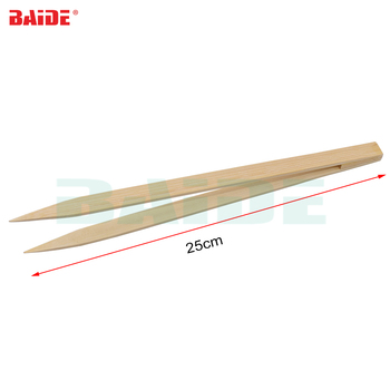 Anti-static ESD 25cm Bamboo Tweezers Pincette for Electronic Chip Wafer Quartz Tools 50pcs/lot