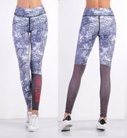Custom Printed Spadex Leggings For Women Body Building Lady Yoga Pants Letters Printed