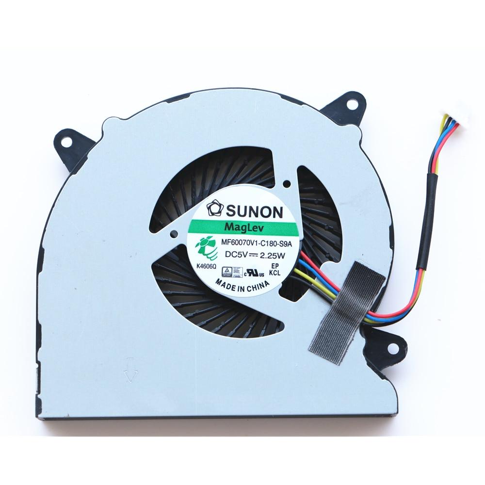 New Original Cpu Cooling Fan For Asus N550 N550J N550JV N550L N750 N750JV N750JK G550J G550JK Cpu Cooling Fan MF60070V1-C180-S9A new original for asus g751 g751j g751m g751jt g751jl g751jm cpu and gpu cooling fan l r
