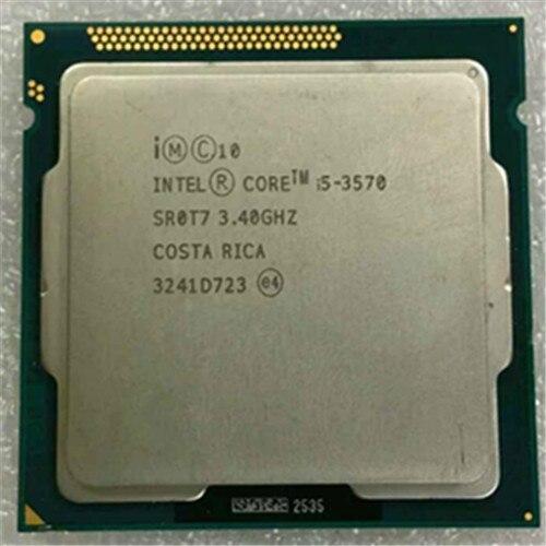 Intel core i5 3570 quad core cpu LGA 1155 3.4 Ghz utiliser H61 H67 Z77 Z68 H77 carte mère 77 w 3570 processeur