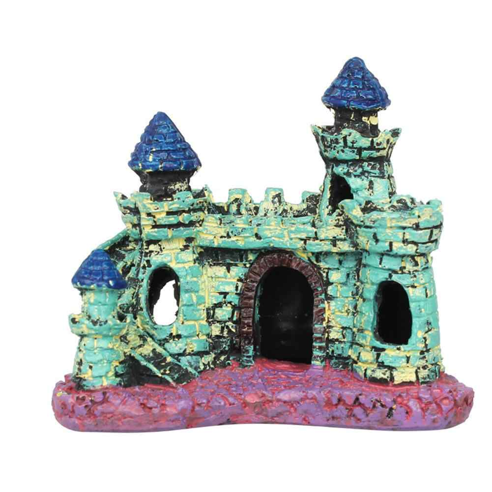 Fish Tank Resin Ornament European Castle Style Simulation Rockery Stone Landscaping House Decoration Aquarium Supplies
