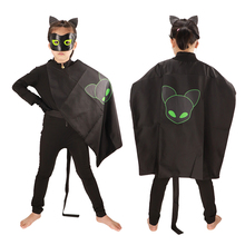 Lady Bug Costumes Kids  Halloween Costumes for Kids Nior Cat  disfraz Ladybug Marinette Cosplay Anime Costumes  Jumpsuits ladybug girl clothes miraculous kids marinette cartoon second skin halloween party costumes suit cosplay costumes mask bag toy