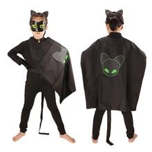 купить Lady Bug Costumes Kids  Halloween Costumes for Kids Nior Cat  disfraz Ladybug Marinette Cosplay Anime Costumes  Jumpsuits дешево