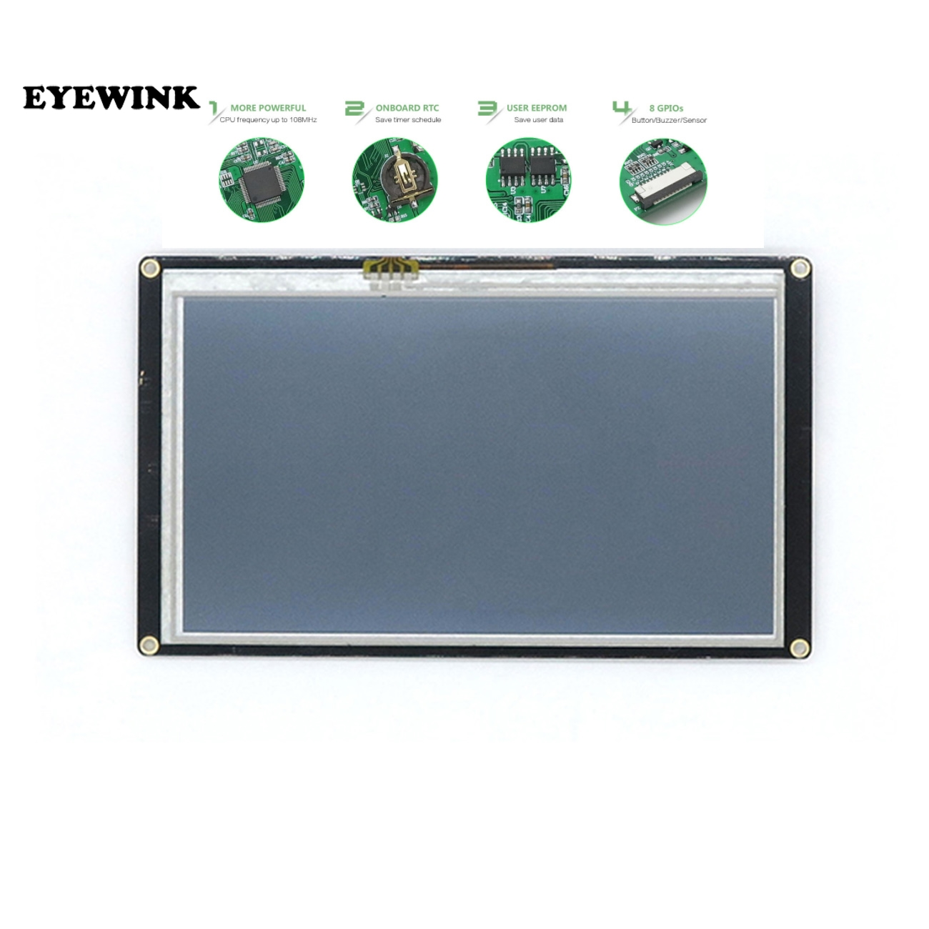 """7.0"""" Nextion Enhanced HMI Intelligent Smart USART UART Serial Touch TFT LCD Module Display Panel For Raspberry Pi NX8048K070-in LCD Modules from Electronic Components & Supplies"""