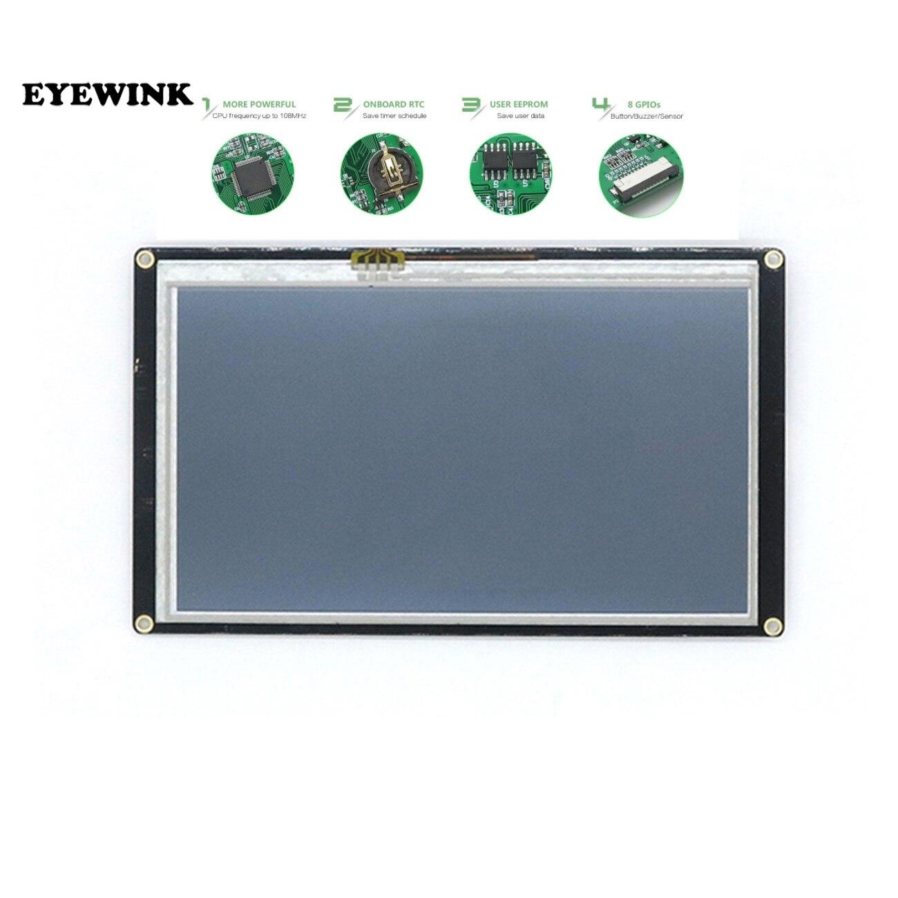 """7.0 """"Nextion Enhanced HMI inteligentny inteligentny USART szeregowy UART dotykowy moduł TFT LCD Panel wyświetlacza dla Raspberry Pi NX8048K070"""