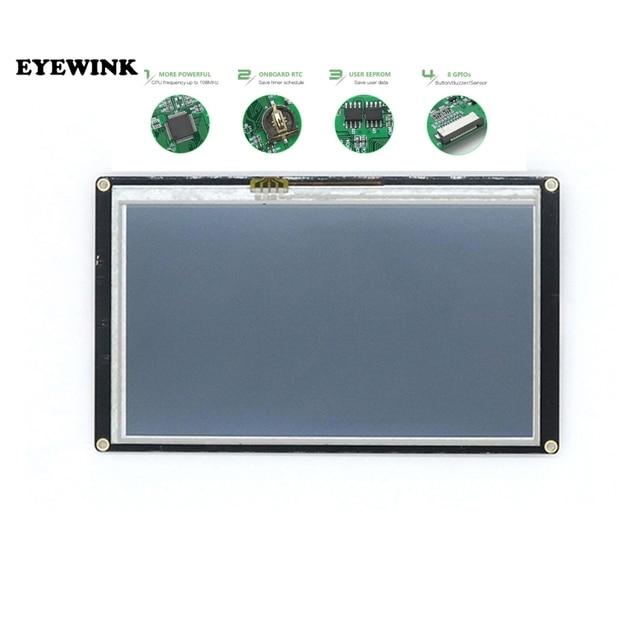 "Panel de pantalla LCD TFT para Raspberry Pi NX8048K070, módulo táctil de 7,0 "", Nextion mejorado HMI Smart USART UART"
