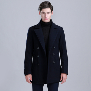Thick Medium Long Wollen Men Coat Winter