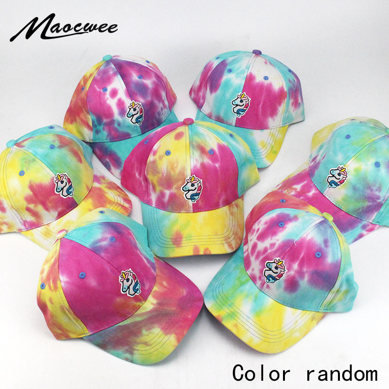 10pcs Girl Baseball Cap Summer Hats Men Women Snapback Cartoon Unicorn Basebaal Hat Cap For Girls