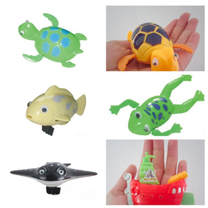 A bath toy Baby paddle clockwork toys The tortoise/clownfish/pirate ship/frog