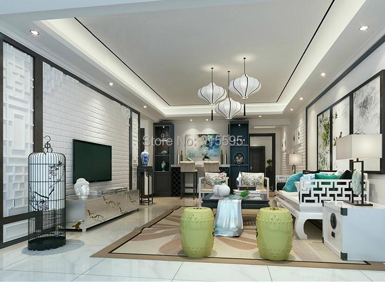 Off Biały 3D Nowoczesny Design Cegła Tapety Rolki Winylu Oblicowywanie Ścian Tapety Do Salonu Jadalni Sklep Tle 7