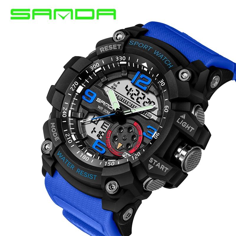 Fashion Sanda Brand Children Watches LED Digital Quartz Watch Boy Girl Student Multifunctional Waterproof Wristwatches For Kids