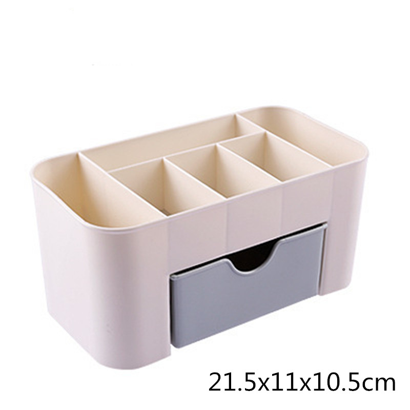 1pcs Hot Sale Multi functional Jewelry Box Carrying Case Plastic Cosmetic Storage Box With Sundries Storage Container Organizer in Jewelry Packaging Display from Jewelry Accessories