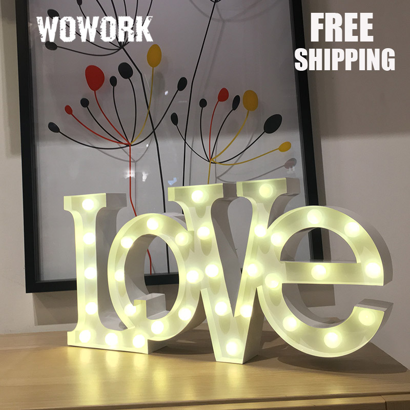 Love Led Marquee Lights Battery Light Letter Home Illuminated Signs Christmas Decoration Lights Decorative Light Up Letter In Holiday Lighting From Lights