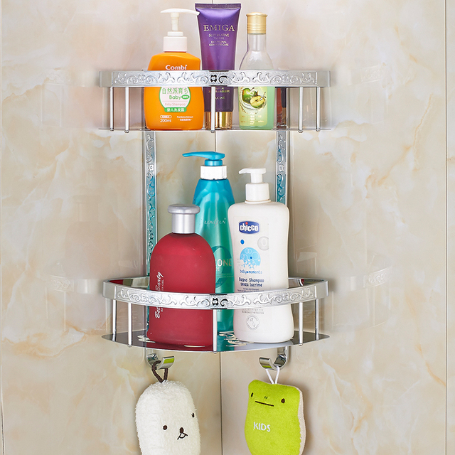 Us 92 56 Double Chrome Bathroom Shelves Shower Shampoo Shelf T0077 In Bathroom Shelves From Home Improvement On Aliexpress Com Alibaba Group