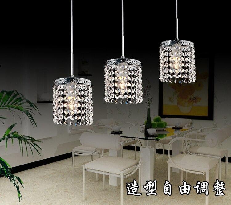 Led Linear Pendant Lamps Crystal Lighting Modern