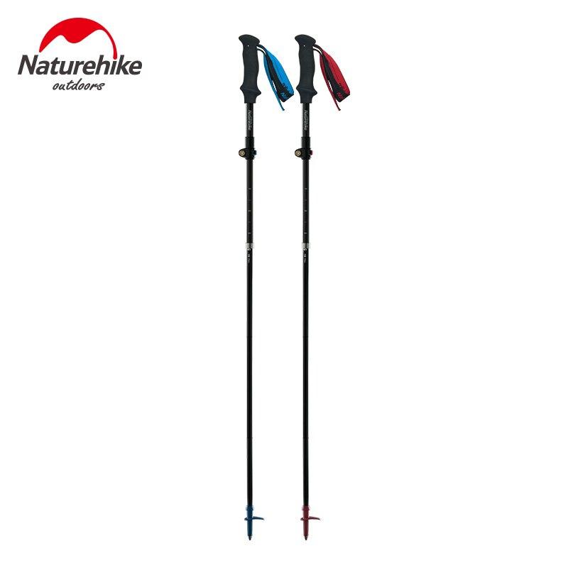 Naturetrekking ultra-léger 5 sections pliable réglable bâtons de randonnée en Fiber de carbone marche bâtons de randonnée NH18D010-Z
