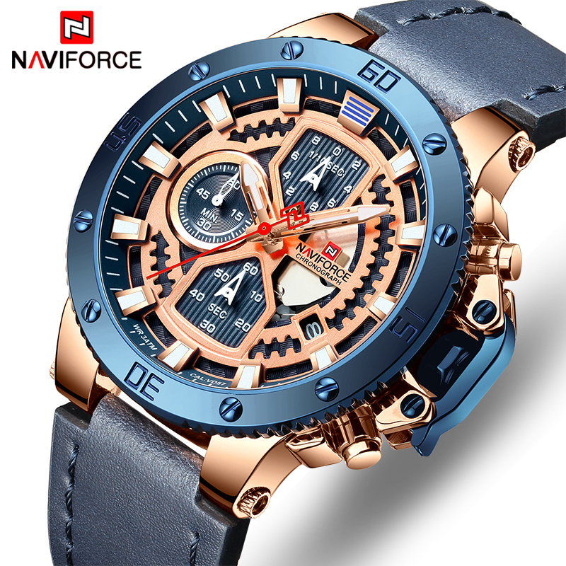 2019 Top Brand NAVIFORCE Mens Sports Watches Men Leather Quartz Automatic Date Clock Male Army Military Waterproof Wrist Watch2019 Top Brand NAVIFORCE Mens Sports Watches Men Leather Quartz Automatic Date Clock Male Army Military Waterproof Wrist Watch