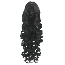 Soowee Long Brown Black Curly Clip In Hair Extensions Pony Tail High Temperature Fiber Synthetic Hair Claw Ponytails