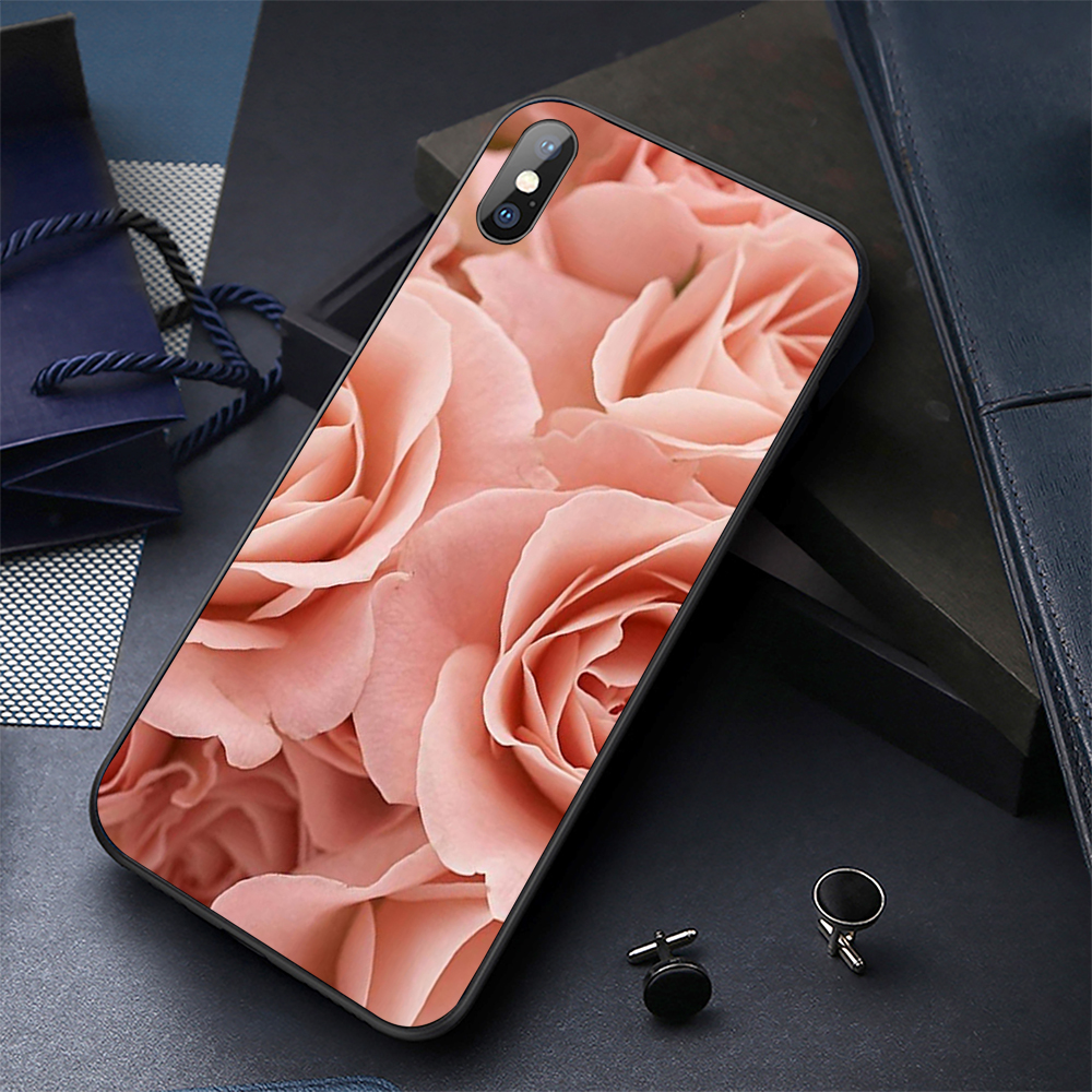 Soft Silicone TPU Case Black Back Phone Cover for iPhone 8 plus case 6s se 5s 5 6 7 xs max Cover in Fitted Cases from Cellphones Telecommunications