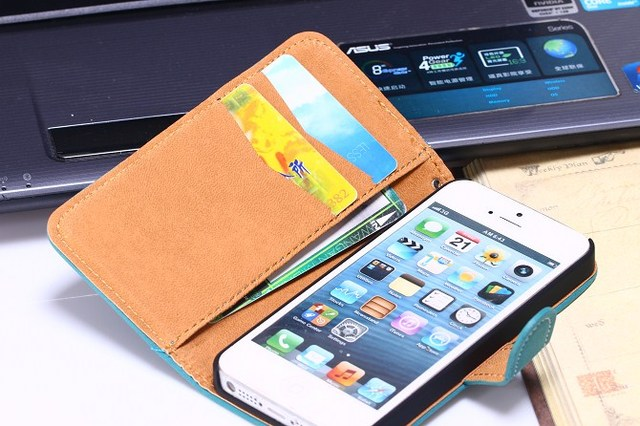 Case for iPhone 5 5S iPhone SE Phone Bag Wallet Style Stand Holder and 2 Card Slot Cover
