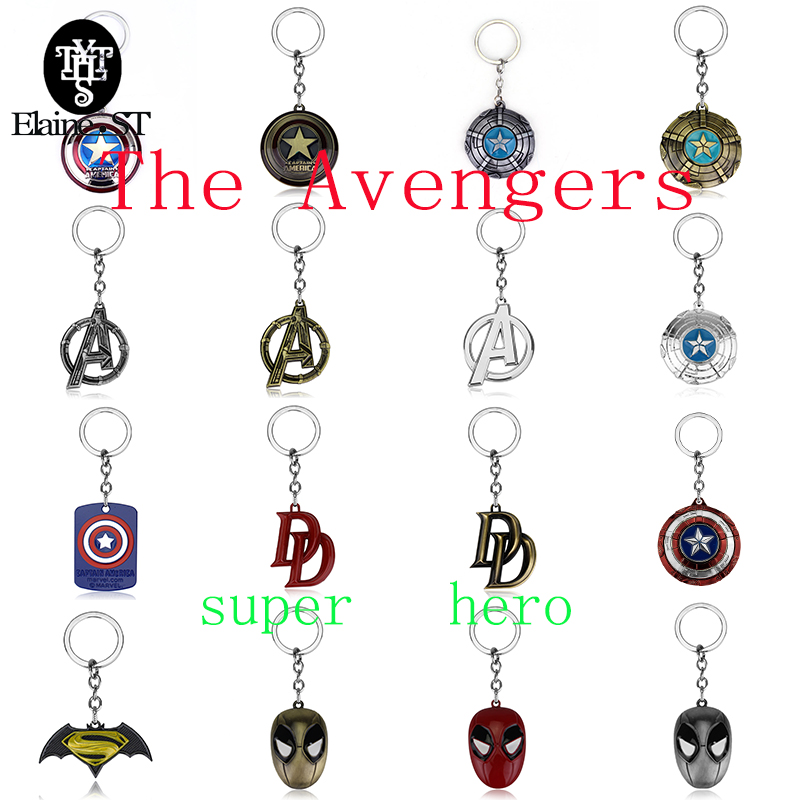 16 <font><b>styles</b></font> <font><b>The</b></font> <font><b>Avengers</b></font> Keychain Super hero series Captain America <font><b>Spider</b></font> <font><b>man</b></font> Deadpool Mask pendant chaveiro llaveros <font><b>Key</b></font> ring