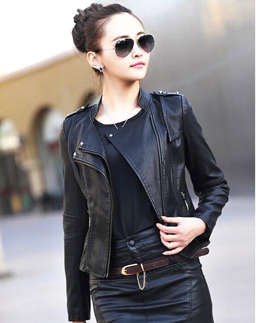 Aliexpress.com : Buy women's fashion leather jacket outerwear 2016 ...